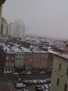 French Quarter Rooftops Under Snow (Actual Snow!)